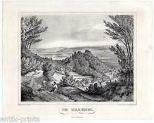 Rinteln - Die Schaumburg - Niedersachsen - Seltene Lithographie-Osterwald 1840