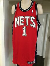 RARE🔥  Adidas NETS Terrence Williams Authentic Game Worn Player's Jersey Sz 48