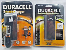 DURACELL PORTABLE POWER BATTERY 4400 MAH LITHIUM ION + 3 IN 1 CHARGER WALL & CAR