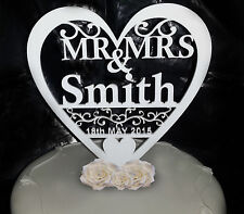Personnalisé wedding cake topper Monsieur & Madame Keepsake décoration de table Toppers