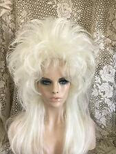 SIN CITY WIGS PLATINUM BLONDE LONG STRAIGHT PIECEY LAYERS TEASED MULLET STYLE