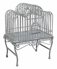DOLLS HOUSE 1/12 SCALE WHITE METAL BIRDCAGE LARGE