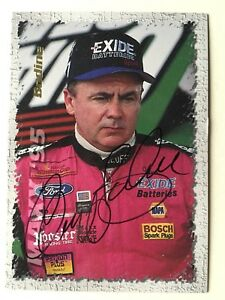 "NASCAR Geoff Bodine signed Approx 4"" X 3"" photo Card"