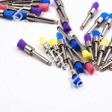100 Pc Mix Color Dental Polisher Nylon Latch Flat Brushes Polishing Prophy Brush