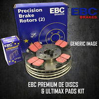 NEW EBC 240mm REAR BRAKE DISCS AND PADS KIT BRAKING KIT OE QUALITY - PDKR743