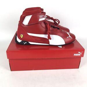 Puma Scuderia Ferrari R-Cat Mid Sneakers Mens Size 10.5 Red 339938-01
