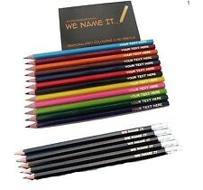 COLOURING PENCILS and HB  PERSONALISED Limit on length of text, see listing