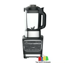 Ninja Foodi Hot & Cold Blender HB152 Auto-iQ + Heat, Stainless Steel/Black