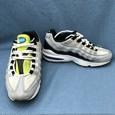 Nike Boys Air Max 95 Grey Black White Volt 905348-017 Sneakers Shoes Size 7Y