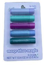 More Than Magic Lip Balm 5 Piece Set Lavender Melon Coconut Cotton Candy New