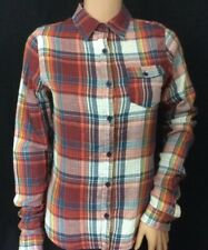 Soulcal Ladies Red/Navy Double Faced Check Shirt.Size 10. BNWT