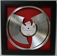 WuTang Black Wood Framed Silver Laser Cut  LP Shadowbox