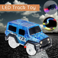 Mini Electric Car For Magic Race Track w/ LED Flashing Light Kid Cars Toy Gift