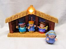 Fisher Price Little People Nativity Christmas Stable Manger & 4 FIGURES