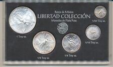 1993 MEXICO LIBERTAD SILVER UNC  5 COIN SET 1oz, 1/2oz, 1/4oz, 1/10oz & 1/20 oz