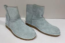 Ugg 1016852 Women 11 Soft Aqua Suede Ankle Boot