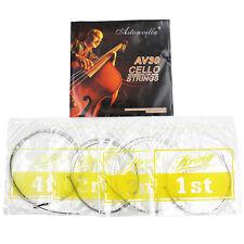 4 Pcs/1 Set Cello String Set German Silver C-G-D-A for Full Size 4/4 -3/4 AV30