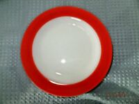 Pyrex Glass Vintage Red Band Plate