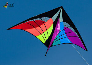 NEW 1.6m Delta Triangle Kite Outdoor fun Sports Toys single line