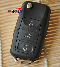 Uncut For VW Volkwagen Flip Key Remote Fob Shell Case Golf Passat Jetta Beetle