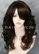Glamorous New Big Curly Wavy Brown Blonde Mix Wig w Bangs BL 4-27