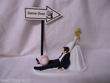Wedding Party Reception Baseball Game Over Sign Sports Cake Topper Play Ball
