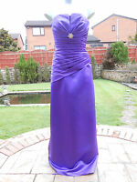 ladies bridesmaid dress size 10 violet stunning can be used for evening wear