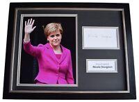 Nicola Sturgeon Signed Framed Photo Autograph 16x12 display Politics SNP COA