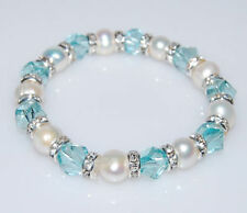 Pearl White Gold Plated Fashion Bracelets