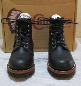 New Chippewa #25289 7 D black (7445)