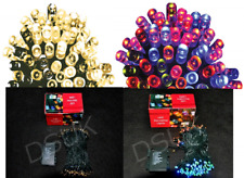 NEW BATTERY OPERATED LED X MAS FAIRY LIGHTS WITH TIMER FOR INDOOR AND OUTDOOR