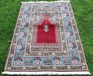 High Quality Anatolian Handmade Oriental Area Rug Turkish Vintage Carpet 4x6 ft.