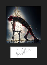 RYAN REYNOLDS (DEADPOOL) #2 A5 Signed Mounted Photo Print (RePrint) - FREE DEL
