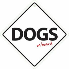 Dogs on Board Car Plastic Sign