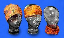 Australian Souvenir Scarf Jijaka Aboriginal Art Design Unisex Headscarf - Desert