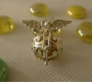 Pregnancy Gift Winged Harmony Ball 925 Sterling Silver Pendant