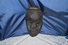 Art African/Antique Mask African/Nigeria/Mask Wooden Blackened