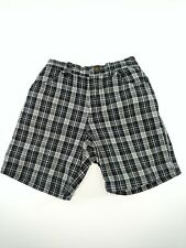 Kenneth Cole Reaction Boys Size 18 Months Black White Plaid Shorts Elastic Back
