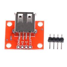 USB Female Power USB Type A Female Module Breakout Converter Board Breadboard
