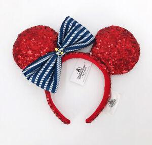 Disney Parks Red Purple 2021 Mickey Mouse Anchor Minnie Ears Headband