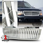 Fits 2007-2014 Tahoeavalanchesuburban Vertical-bar Glossy Chrome Abs Grille