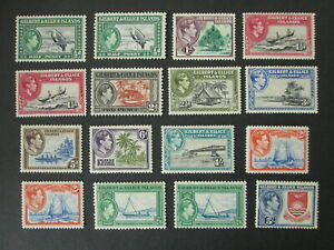 GILBERT AND ELLICE ISLANDS 16 stamps MH british colonies