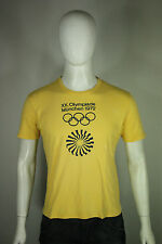 Vintage Munich Olympics t-shirt M 1972 72 70's west germany yellow