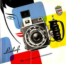 1957 LINHOF CAMERA FULL PRODUCT CATALOG BROCHURE -TECHNIKA-KARDAN-ZEISS LENSES