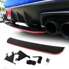 Painted Black + Red For SUBARU WRX STI 4th Rear Diffuser Under Lip Spoiler