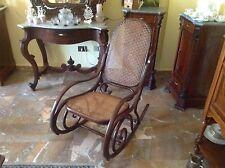 Thonet - sedia a dondolo - fine '800 - legno curvato - paglia di Vienna - design