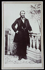 Carte de Visite #6 Standing Gentleman - US IRS Proprietary Tax Stamp 2c on Back
