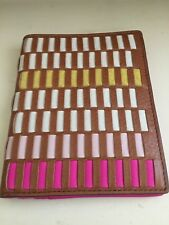 Fossil SL7523664 RFID Passport Woven Pink Multi This & That leather wallet NWT