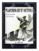 Historic Suffrage Bugler Girl Advertising Postcard