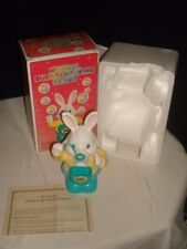 1995 MUSICAL BUBBLE BLOWING RABBIT W/BOX & A.C. ADAPTER MINT
